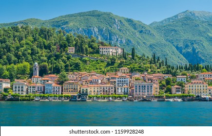 Bellagio waterfront on a sunny summer day, Lake Como, Lombardy, Italy.