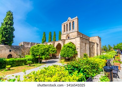 "Bellapais Abbey, or ""the Abbey of Peace"" , is the ruin of a monastery built by Canons Regular in the 13th century on the northern side of the small village of Bellapais, now in Northern Cyprus."