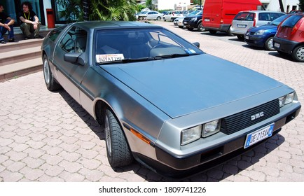 Bellaria / Rimini, Italy - May 25, 2008: DMC De Lorean from Back to the future on exhibition at the annual italian convention of Star Trek.