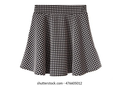 bell-bottoms black and white skirt, isolated
