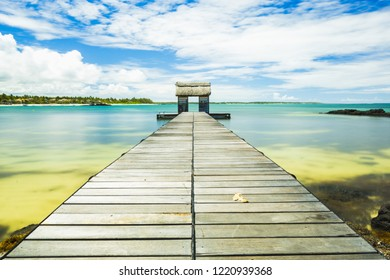 Belle Mare beach at Mauritius
