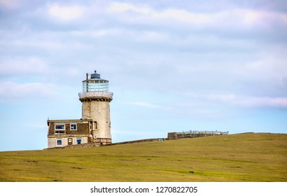 Belle Tout Lighthouse at Beachy Head, Eastbourne Downland, South Downs National Park, England