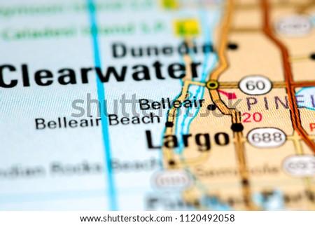 Belleair Florida Usa On Map Stock Photo Edit Now 1120492058