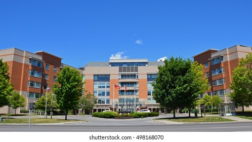BELLEVILLE, ONTARIO - JULY, 2016 : Hastings Manor is a large adult care facility in Belleville.