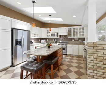 Bellevue, WA / USA - May 23, 2019: Modern kitchen interior