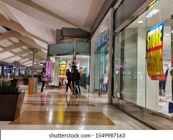 Bellevue, WA / USA - November 1st, 2019: Forever 21 retail clothing store advertising going out of business bankruptcy sale