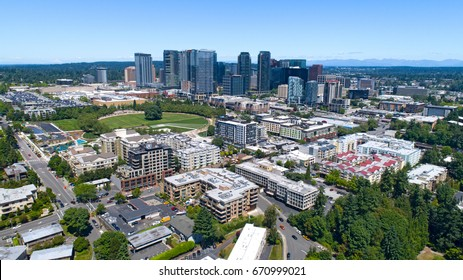 Bellevue Washington City Skyline Downtown District