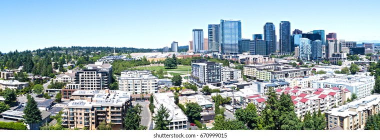 Bellevue Washington Skyline Panoramic Urban Cityscape