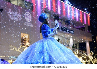 BELLEVUE WASHINGTON/USA - December 13, 2017, The Princess performing at Snowflake Lane Parade at The Bellevue Square