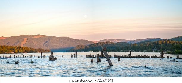 Bellingham Washington Lake Whatcom Sunset