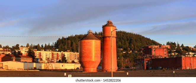BELLINGHAM,WASHINGTON - June 30 , Shipping terminal in Bellingham on June 30,2019, Bellingham is one of 20 great American cities for writers that aren't New York City