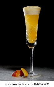 Bellini Cocktail isolated