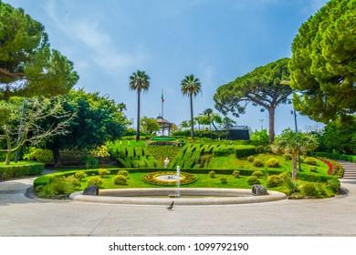 Bellini garden park in Catania, Sicily, Italy