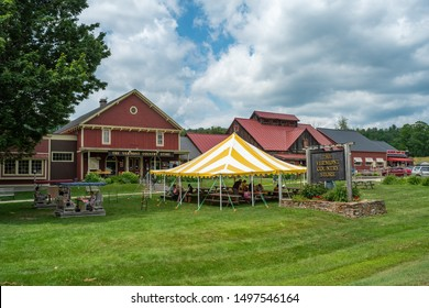 Bellows Falls, Vermont - July 5, 2019: Outdoors at Vermont Country Store in Bellows Falls, Vermont on July 5, 2019.