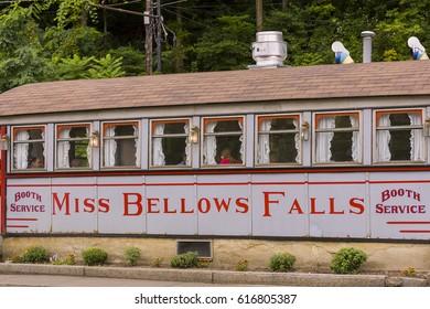 BELLOWS FALLS, VERMONT, USA - SEPTEMBER 2, 2006: Miss Bellows Falls Diner, historic small town restaurant.
