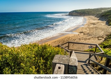 Bells beach on the Great Ocean Road close to Torquay, in the summer