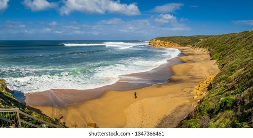 Bells Beach, Torquay, Great Ocean Road, Victoria, Australia, site of the annual Rip Curl Pro surfing contest, held each Easter