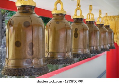 bells in buddha temple in thailand