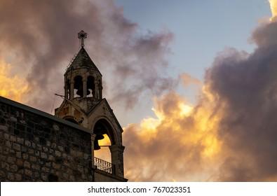 Bells of the  Church of Nativity,  Bethlehem, Palestine