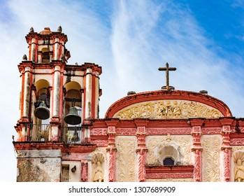 Bells of Cuernavaca cathedral near Taxco, Mexico