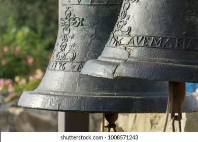 bells at the historical Mission San Juan Capistrano, CA, USA