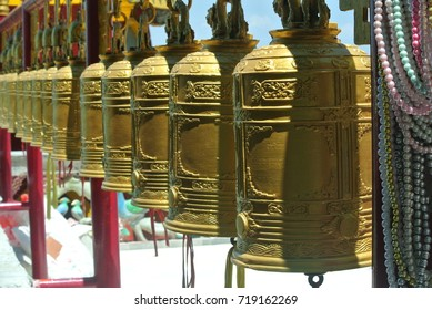Bells Travel and pray In Buddhist temples in Thailand ( Asia style )