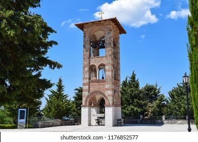 Bell-tower of the Hercegovačka Gračanica monastery above the city of Trebinje in Bosnia Herzegovina