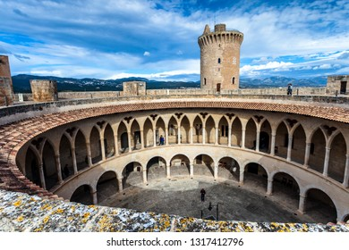 Bellver Castle on Palma, built in the 14th century for King James II of Majorca, and is one of the few circular ones in Europe.