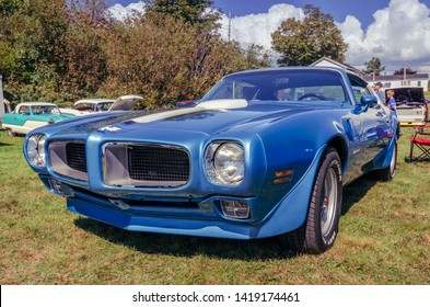 Belmont, Nova Scotia, Canada - September 9, 2017 : 1970 Pontiac Firebird Trans-Am at 3rd Annual Belmont Show & Shine in rural Nova Scotia.