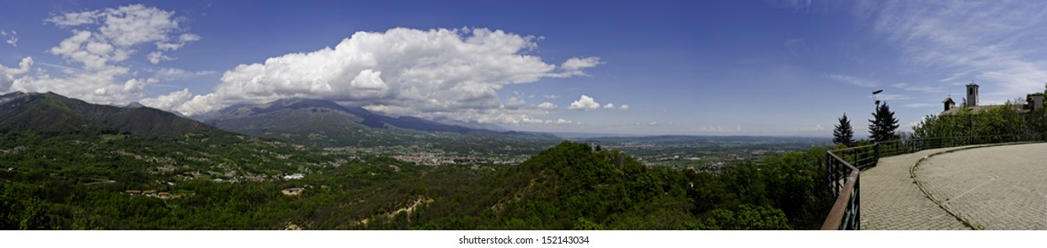 Belmonte - Canavese - View from a balcony on the valley