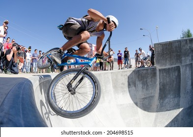 BELMONTE, PORTUGAL - JULY 12, 2014: Miguel Semens from Spain during the The Lost Bowl Event.