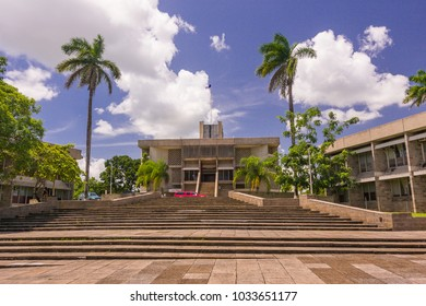 BELMOPAN, BELIZE - AUGUST 7, 2008: Government buildings in the national capital city of Belmopan.