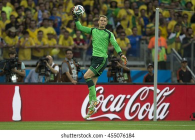 Belo Horizonte, Brazil - july 08, 2014: Manuel NEUER during the FIFA 2014 World Cup. Brazil is facing Germany in the semi-finals at Mineirao Stadium