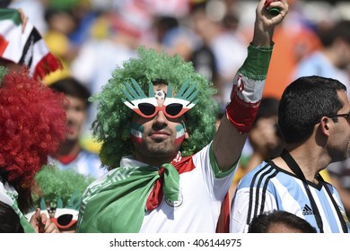 BELO HORIZONTE, BRAZIL - June 26, 2014: Fans during the FIFA 2014 World Cup. Argentina is facing Iran in the Group F at Minerao Stadium