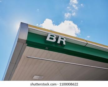 BELO HORIZONTE, BRAZIL - MAY 27, 2018: Brazilian fuel crisis on May 27, 2018, Belo Horizonte, Minas Gerais, Brazil