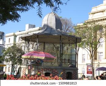 Belo Horizonte city, Minas Gerais state, Brasil, september 2019, Bandstand at the Liberty's square