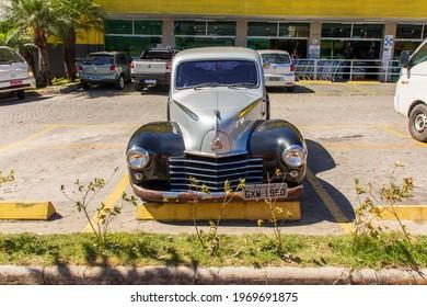 Belo Horizonte - Minas Gerais - Brasil - JAN 22 2021: Partial view of the OPEL IMP VAUXHALL 1950 vehicle