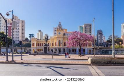 Belo Horizonte - Minas Gerais - Brasil - JUL 18 2021: Panoramic View of Station Square