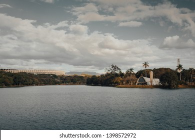 Belo Horizonte, Minas Gerais, Brazil. View of Pampulha Lake during the day.