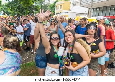 Belo Horizonte, Minas Gerais, Brazil - February 25, 2020: Best photos of the carnival in Brazil 2020 in Belo Horizonte