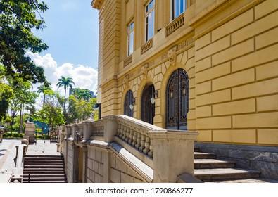 BELO HORIZONTE / MINAS GERAIS / BRAZIL - OCTOBER 05 2019: Cultural Center Building at Liberty Square in Belo Horizonte, Brazil