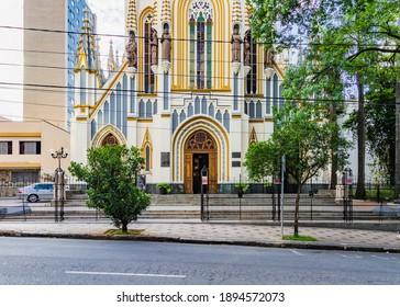 BELO HORIZONTE, MINAS GERAIS, BRAZIL - OCTOBER 29, 2020: Basilica of Our Lady of Lourdes in Belo Horizonte, Brazil