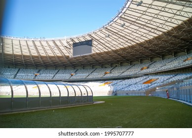 BELO HORIZONTE, MINAS GERAIS, BRAZIL - JULY 30, 2013: Governor Magalhães Pinto Stadium, Belo Horizonte, Minas Gerais, Brazil