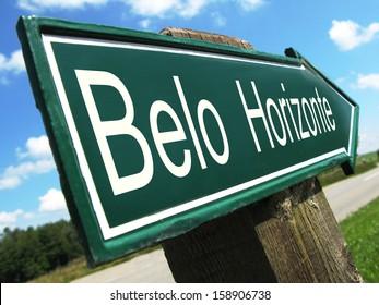 Belo Horizonte road sign