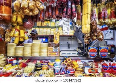 Belo Horizonte/MG/Brazil - April 25th 2019: Mercado Central de BH, Traditional and Popular Food Market in Downtown Belo Horizonte, Minas Gerais State
