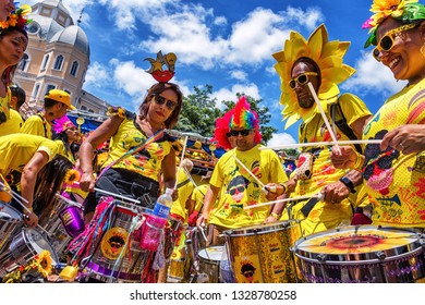Belo Horizonte/MG/Brazil - March 3rd 2019: Carnaval in Brazil! Bloco Beiço do Wando, BH, Minas Gerais State