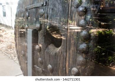 Belo Horizonte/Minas Gerais/Brazil- ABR 18 2019:Partial View Detail of Ox Cart