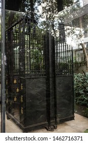 Belo Horizonte/Minas Gerais/Brazil- ABR 18 2019: Electric Lift Cabin of the Abílio Barreto Historical Museum