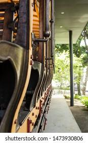 Belo Horizonte/Minas Gerais/Brazil- ABR 18 2019: View on Detail of 19th Century Electric Tram