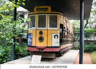 Belo Horizonte/Minas Gerais/Brazil- ABR 18 2019: Partial view of 19th century electric tram